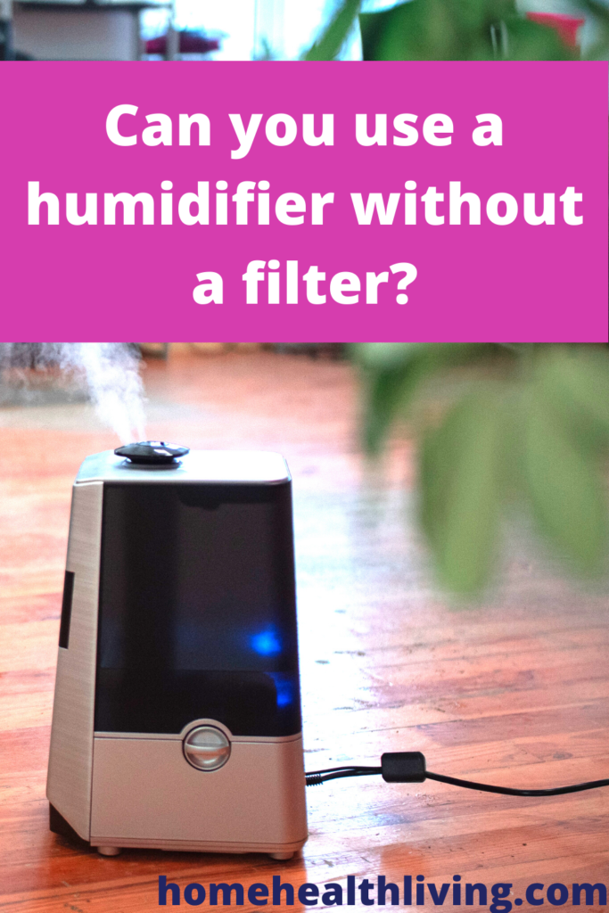 can you use a humidifier without a filter